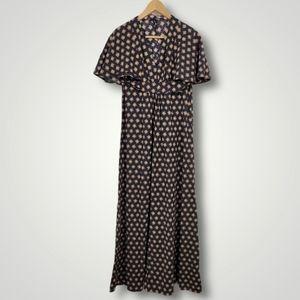 Vintage Handmade Flutter Sleeve Belt Dress